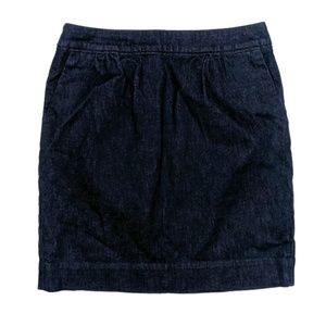 Boden Denim Jean Mini Skirt Cotton Indigo Blue